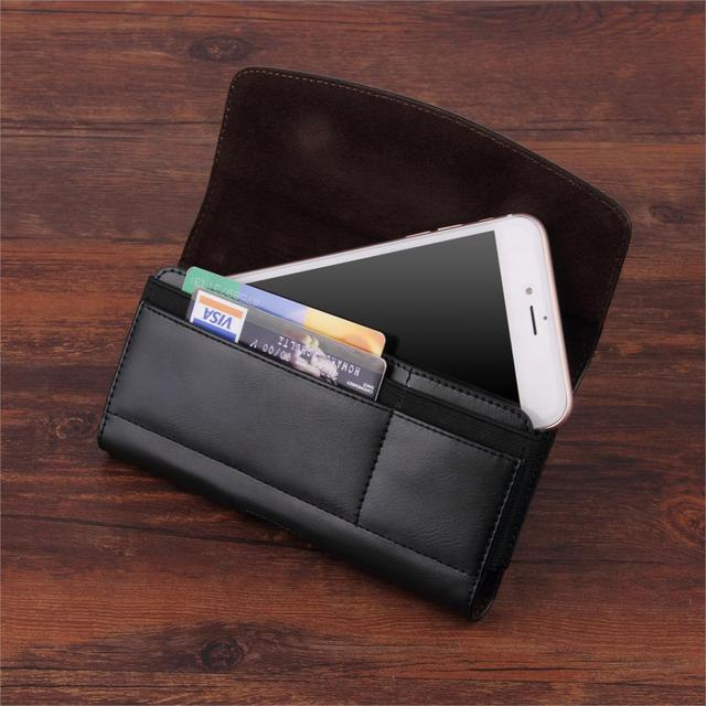 US $7 49 25% OFF|Universal Belt Clip Phone Pouch Leather Case For Cat S48c  S61 S41 S31 S60 S50c Cover With Card Slot-in Phone Pouch from Cellphones &