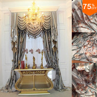 New Free Shipping Luxury Drapery light Grey Silver color curtain the curtains for living room grey color grayness ashen Drapes