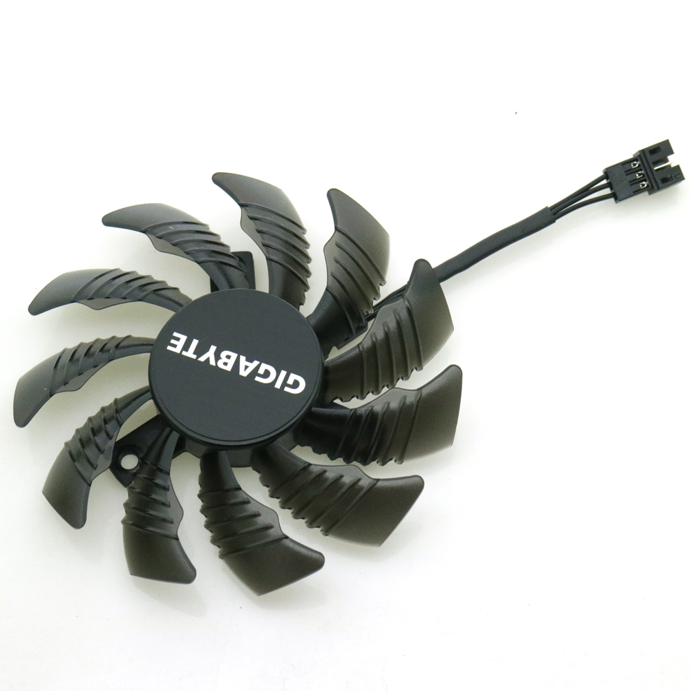 Купить с кэшбэком Free Shipping T128010SM 12V 0.20A 75mm Fan 40*40*40mm 3Pin 2Pin For Gigabyte Graphics Card Cooling Fan
