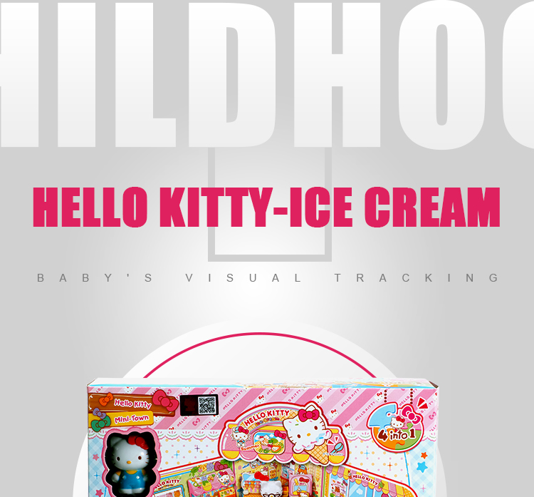 Hello Kitty Mini Town Ice Cream Shop Girl Toy Set Pretend Role Play