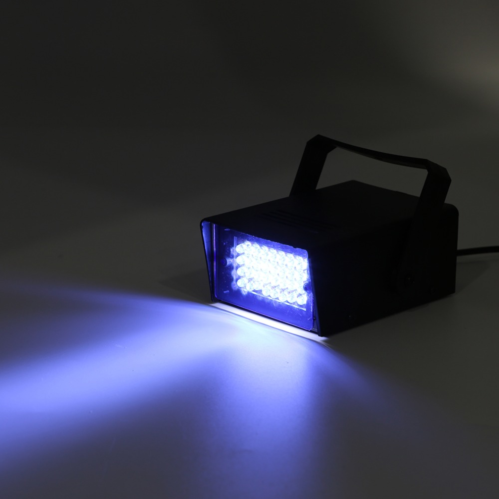 Mini 24 LED Strobe Disco DJ Flash Lamp Club Stage Lighting Bulb Party Bar Brand New rg mini 3 lens 24 patterns led laser projector stage lighting effect 3w blue for dj disco party club laser
