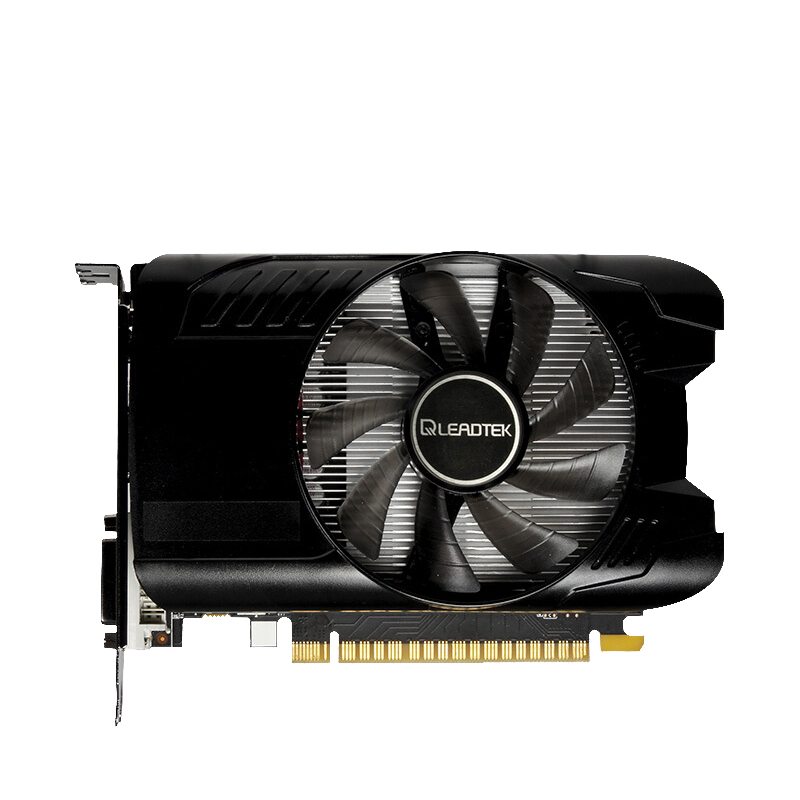 Leadtek GTX 1050Ti 4G GDDR5 Single Fan Apex Game Graphics Itx Short Card image