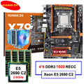 Бренд HUANAN Чжи deluxe X79 LGA2011 материнской платы с M.2 NVMe слот Процессор Xeon E5 2690 C2 2,9 ГГц с охладитель Оперативная память 32G (4*8G) регистровая и ecc-памят...