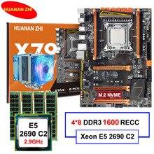 Бренд HUANAN Чжи deluxe X79 LGA2011 материнской платы с M.2 NVMe слот Процессор Xeon E5 2690 C2 2,9 ГГц с охладитель Оперативная память 32G (4*8G) регистровая и ecc-память