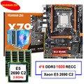 Placa base HUANAN ZHI deluxe X79 LGA2011 con ranura m2 NVMe CPU Xeon E5 2690 C2 2,9 GHz con enfriador RAM 32G (4*8G) REG ECC