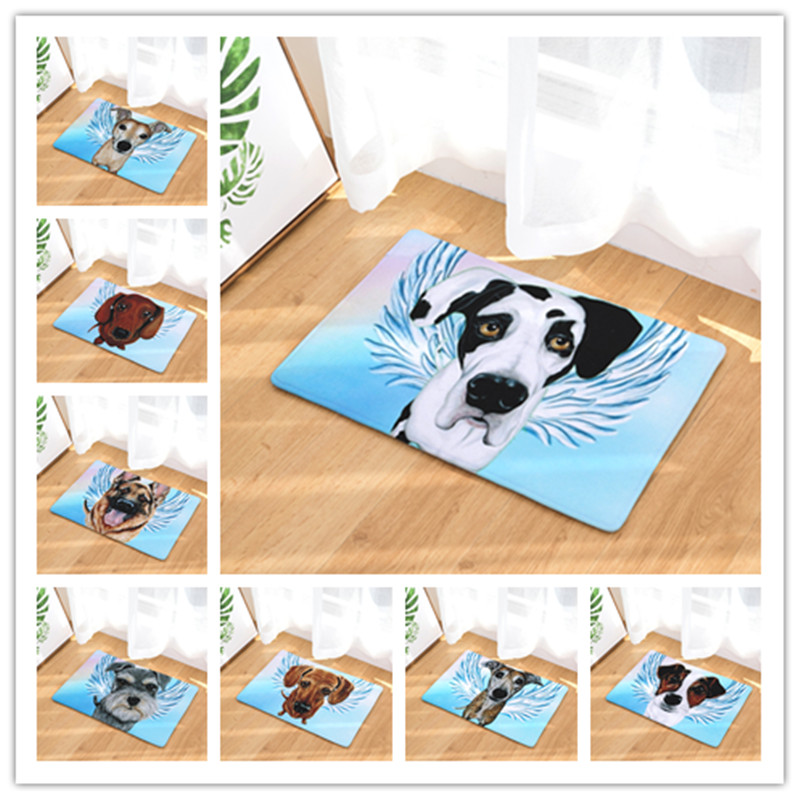 new arrive welcome home hallway flannel mats cool mouse pattern rugs rectangular waterproof light carpets for bedroom