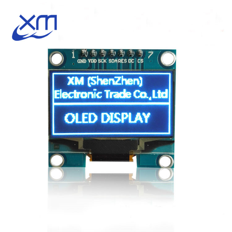 1PCS 1.3 OLED module blue color SPI 128X64 1.3 inch OLED LCD LED Display Module For 1.3 SPI Communicate D14 for Arduino