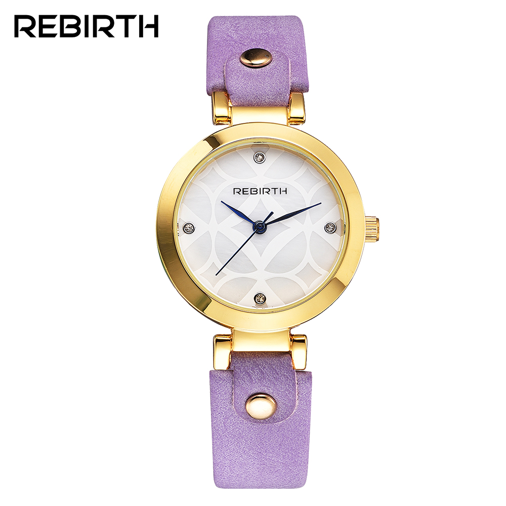REBIRTH Fashion Wrist Watch Women Watches Ladies Luxury Brand Famous Quartz Watch Female Clock Relogio Feminino Montre Femme weiqin real ceramic women watch brand luxury diamond fashion watches ladies rose gold wrist watch quartz hours relogios feminino
