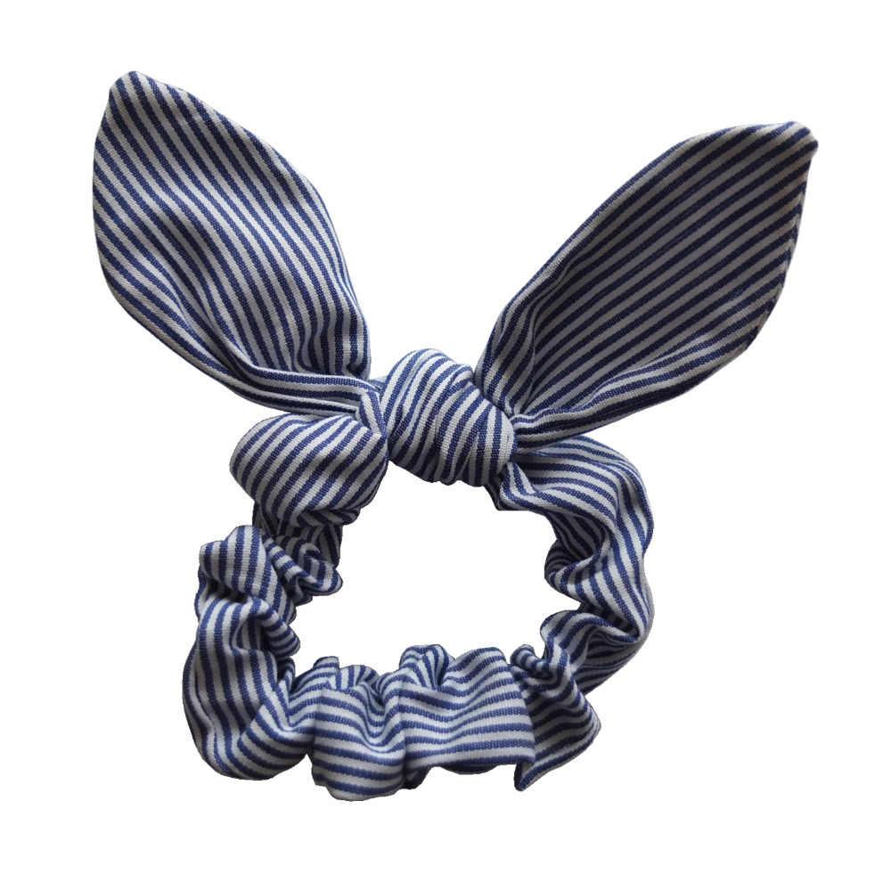 Dziewczyny/kobiety akcesoria do włosów uszy królika opaski do włosów uszy króliczka do kokardki do włosów krawat Scrunchie elastyczny kucyk Holder gumki do włosów