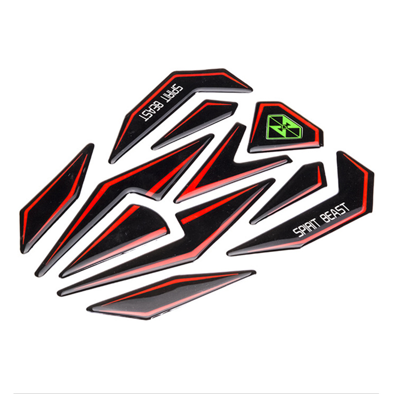 Motorcycle Sticker Decoration 3D Reflective Motorcycle Oil Gas Fuel Tank Sticker Scratchproof Motocross Tank Protector Pad