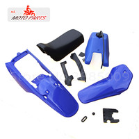 Complete Plastic Body Fenders Shell Cover Gas Fuel Tank Seat Kit for PW80 PY80 Dirt Bike Motorcycle
