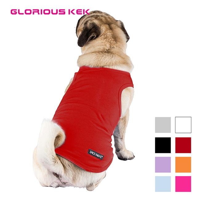 Sommer Pet Kleidung Blank Dog Shirts V Kragen Puppy Soft Baumwolle
