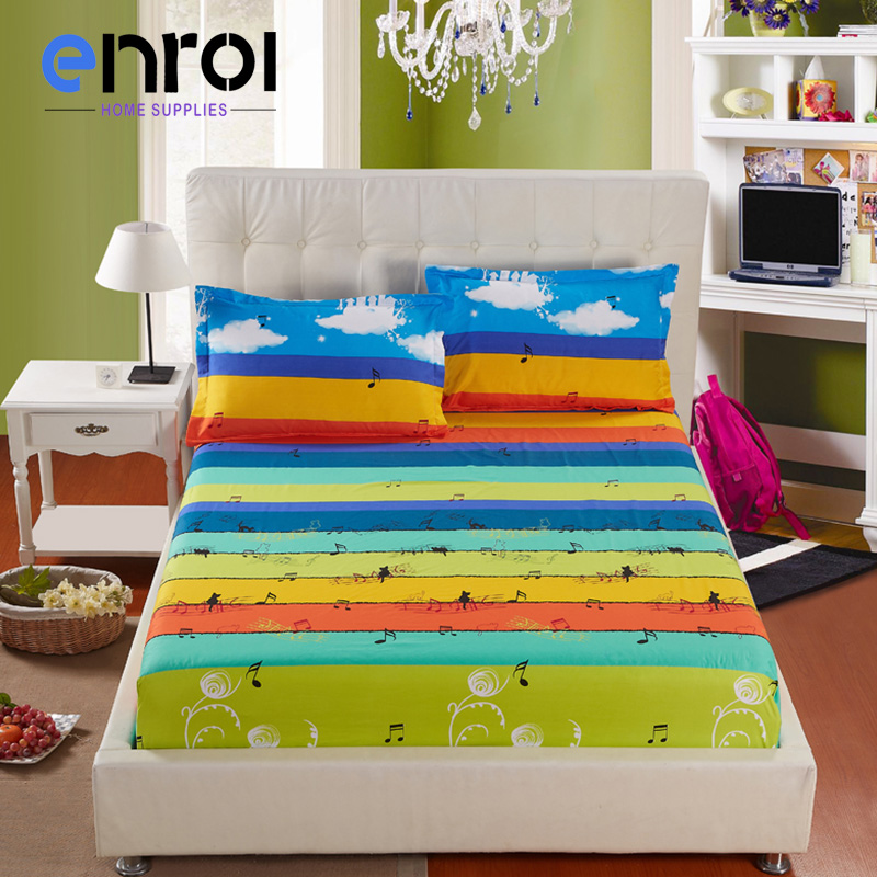 100 cotton fitted sheets single twin full queen king size bedsheets elastic mattress cover protective