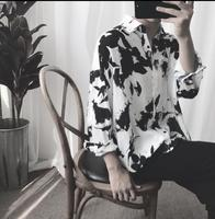 2018 Fashionable flowers fashionable floral print loose summer sun protection simple shirt. S XL!! Large size casual shirt.