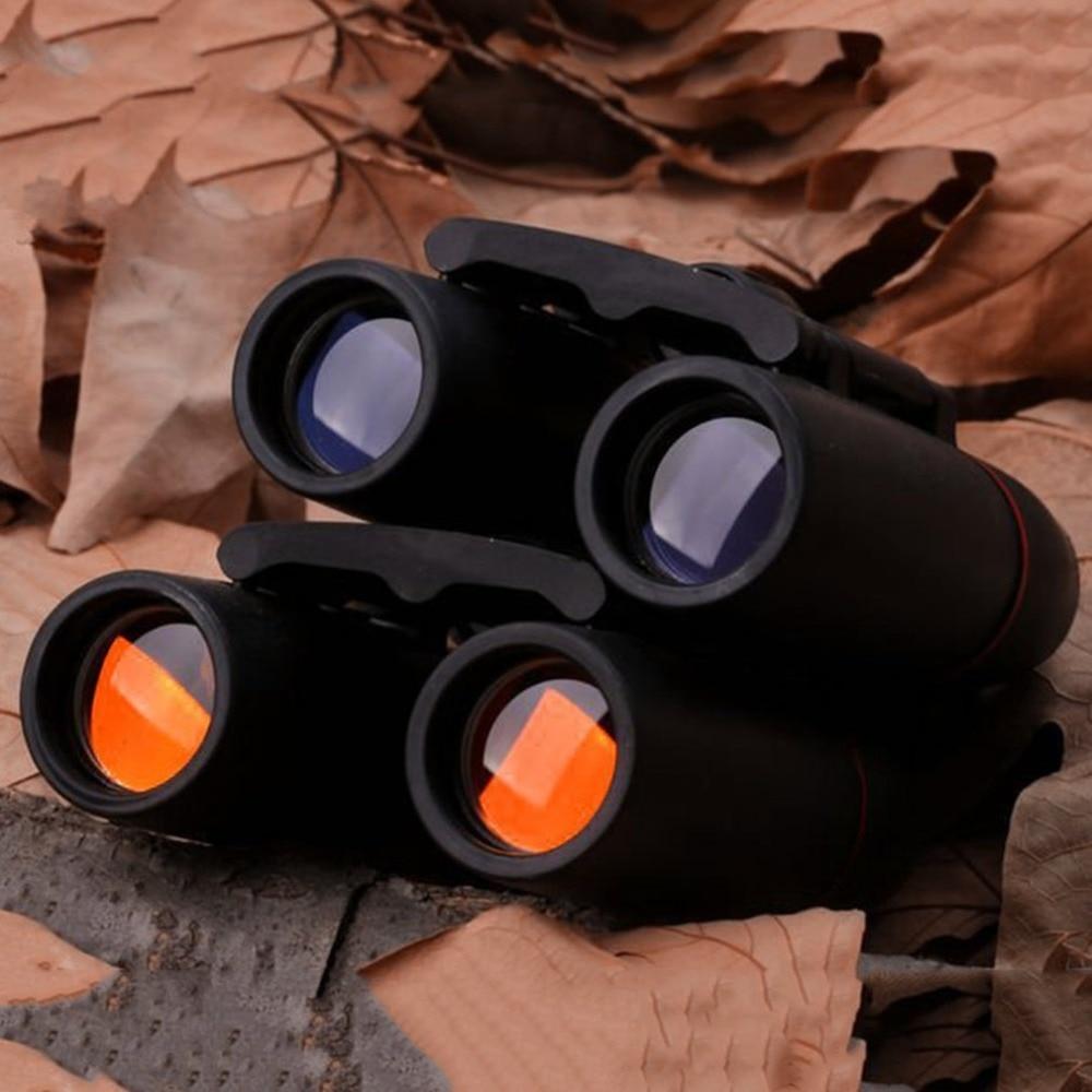 Folding Binoculars Mini Binoculars 30X60 HD Wide Angle Portable Low Light Level Night Vision Pocket Binoculars Hot Dropshipping