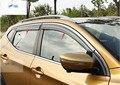 Para Nissan Qashqai 2014 2015 Viseiras Da Janela Toldos Viseira Deflector de Vento Chuva Ventilação Guarda 4 pçs/set