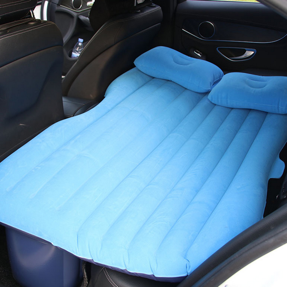 Multifunctional Car Flocking Air Mattress Undulating Style Inflatable Bed Back Seat Cushions for Travel Camping drive travel deflatable air inflation bed mattress suv camping pvc material car seat cover cushion with car electric air pump