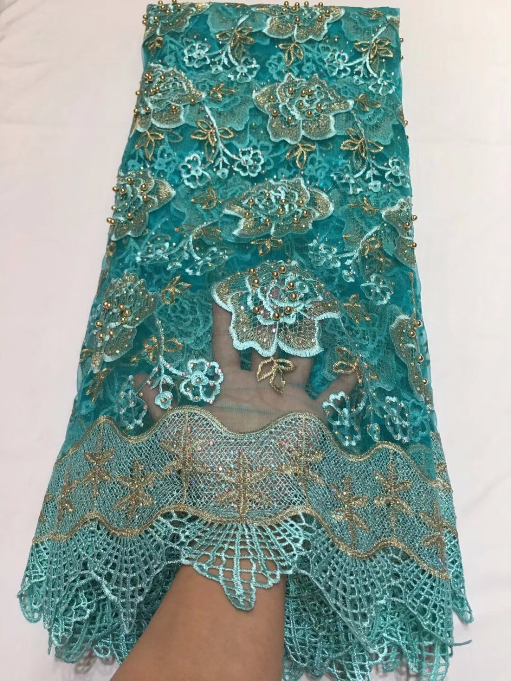 green African Laces Fabric Embroidered Nigerian Guipure French Lace Fabric High Quality 2018 African French Net Lace Fabricgreen African Laces Fabric Embroidered Nigerian Guipure French Lace Fabric High Quality 2018 African French Net Lace Fabric