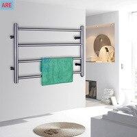 Stainless Steel Heated Towel Warmer Rails Towel heater Racks Towel dryer Toilet And Bathroom Accessories TW RD2