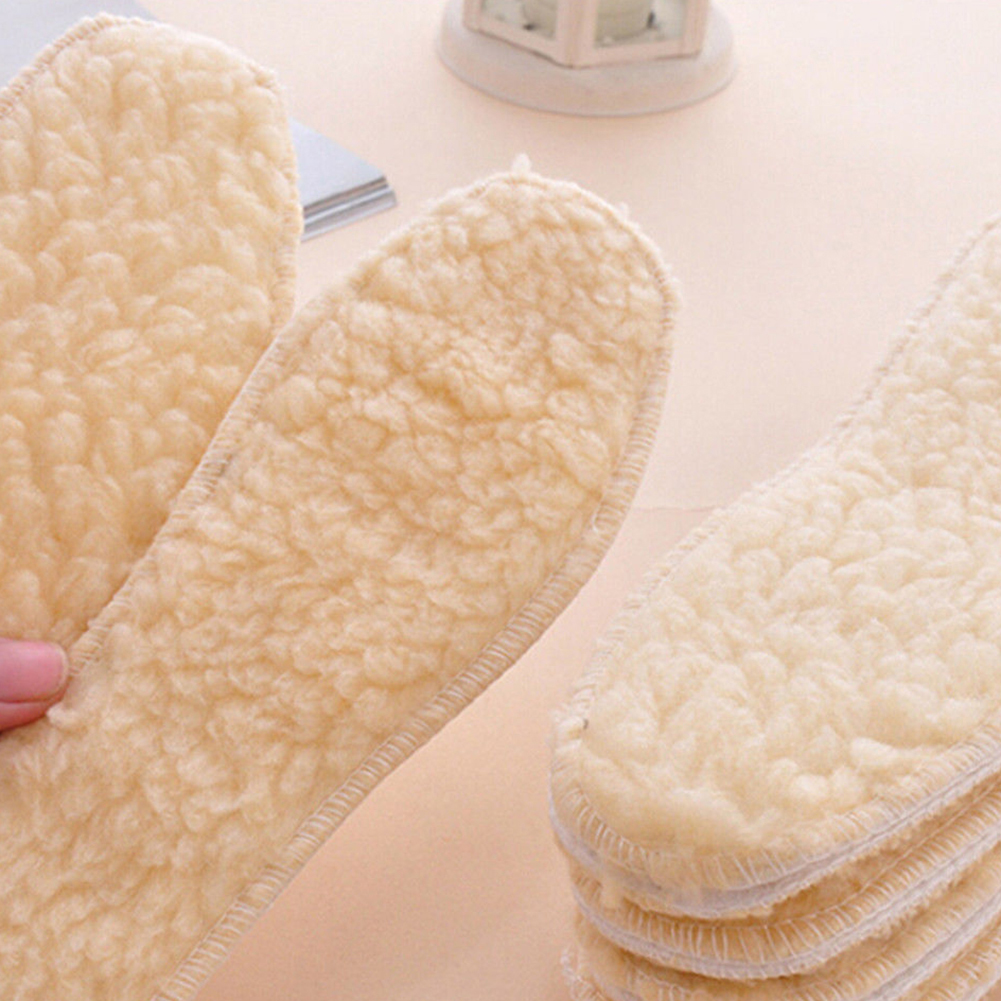 Winter Soft Warm Fleece Shoes Boots Sneakers Thermal Insoles Insert Foot Pads