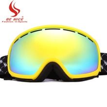 BE NICE brand ski glasses Uv protection snowmobile ski goggles anti fog snowboard goggles snow goggles for adult SKI3900