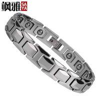 19mm Men S Tungsten Carbide Magnetic Bracelets Energy Balance Titanium Magnetic Bracelet