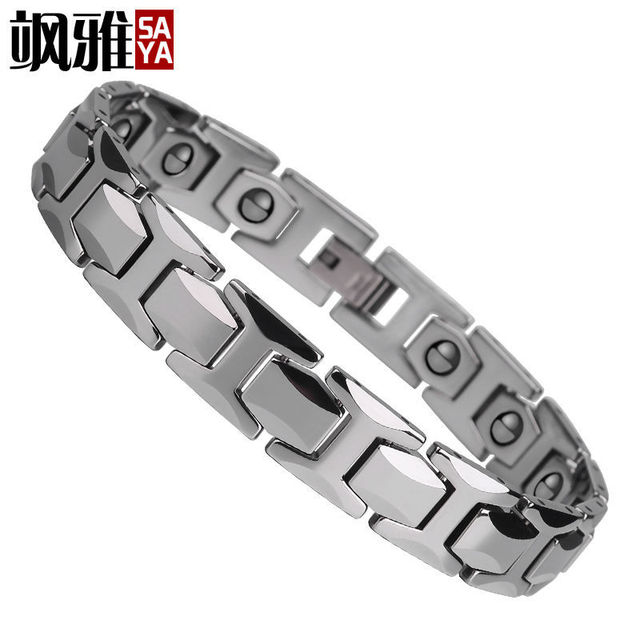 New Fashion 11mm Width Men's Tungsten Magnetic Bracelets Energy Balance Titanium Magnetic Bracelet Free Shipping