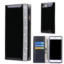 Роскошный кожаный чехол для iPhone 7 Plus Fundas Bling Алмазная кошелек визитница откидная крышка подставка для iPhone 7 плюс Чехол Капа