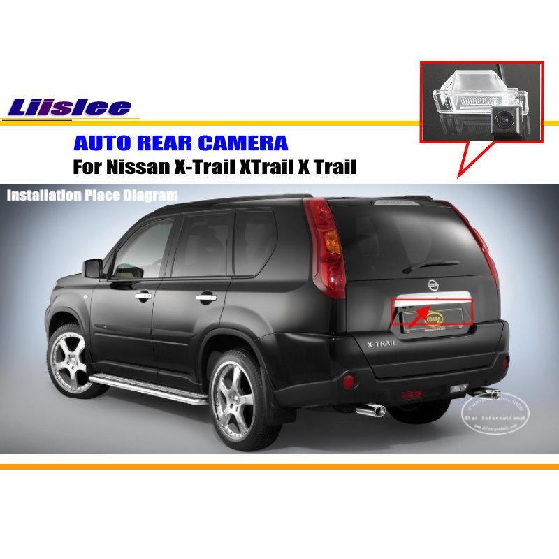 imágenes para Cámara del coche Para Nissan X-trail X Trail XTrail 2007 ~ 2012/Retrovisor cámara/CCD HD RCA NTST PAL/Luz de la Matrícula del OEM