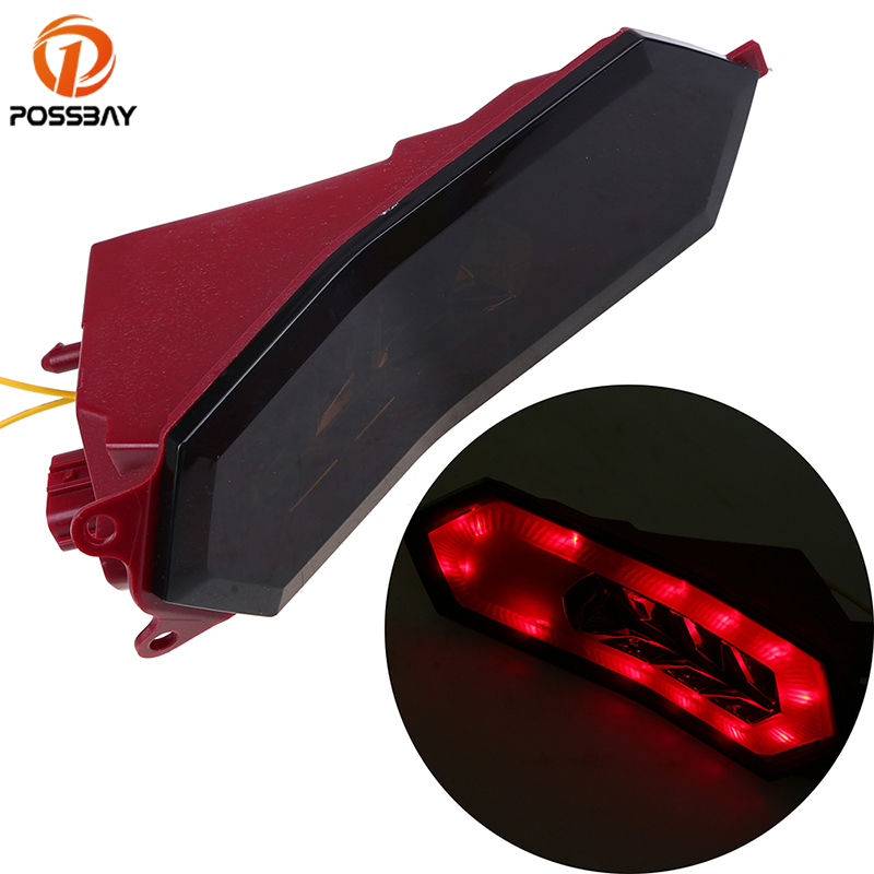 POSSBAY Motorcycle Tail Light Red Amber LED Motocross Taillight Lights Stop Rear Turn Signals Light for Yamaha R1 2015 2016 2017POSSBAY Motorcycle Tail Light Red Amber LED Motocross Taillight Lights Stop Rear Turn Signals Light for Yamaha R1 2015 2016 2017
