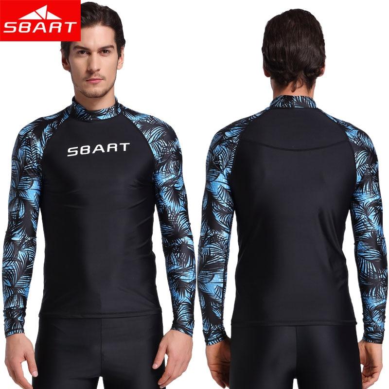 SBART 2017 Summer Men Windsurf Rash Guards Lycra Surf Swim Shirt UV Protection Rash Guard Diving Tops Long Sleeve Swimsuit sbart upf50 rashguard 2 bodyboard 1006
