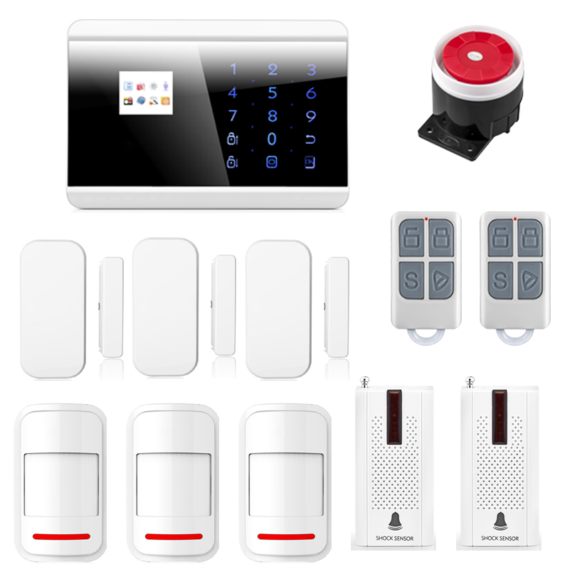 Intelligent Burglar Alarm System Smart Anti-thief Wireless GSM PSTN Home House Secutity Alarm System Touch Pad Safe for Life w1 wifi pstn burglar alarm for home villa super safe anti theft pet friendly pir alarm system