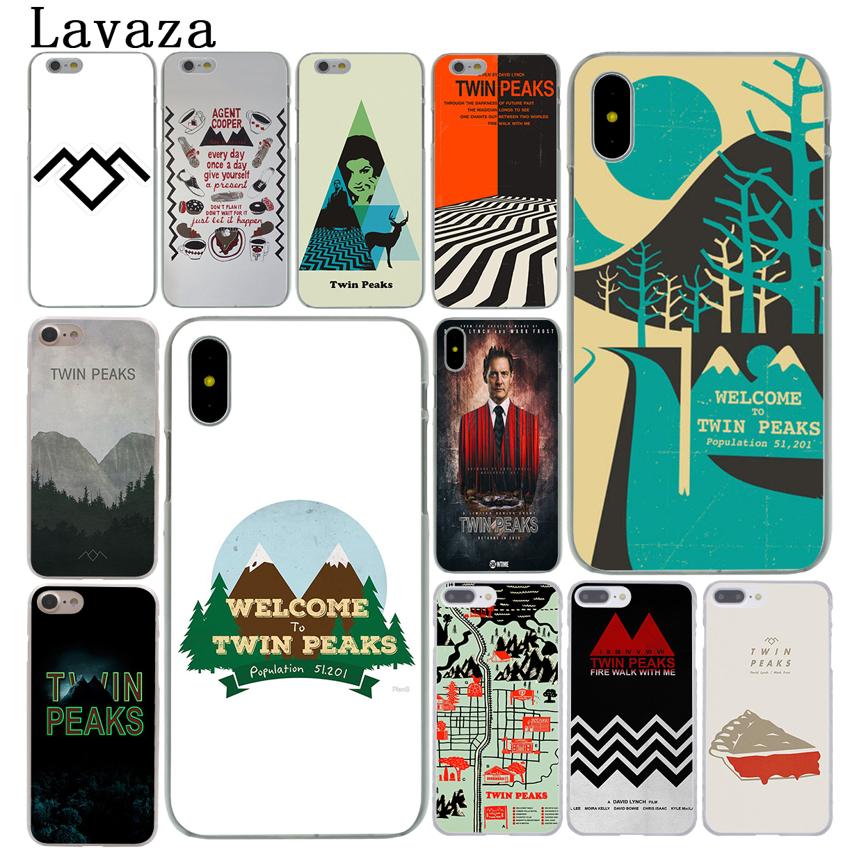 Lavaza Добро пожаловать Твин Пикс жесткий Coque телефон чехла для Apple iPhone X 8 7 6 6 S плюс 5 5S SE 5C 4 4S 10 Крышка ...