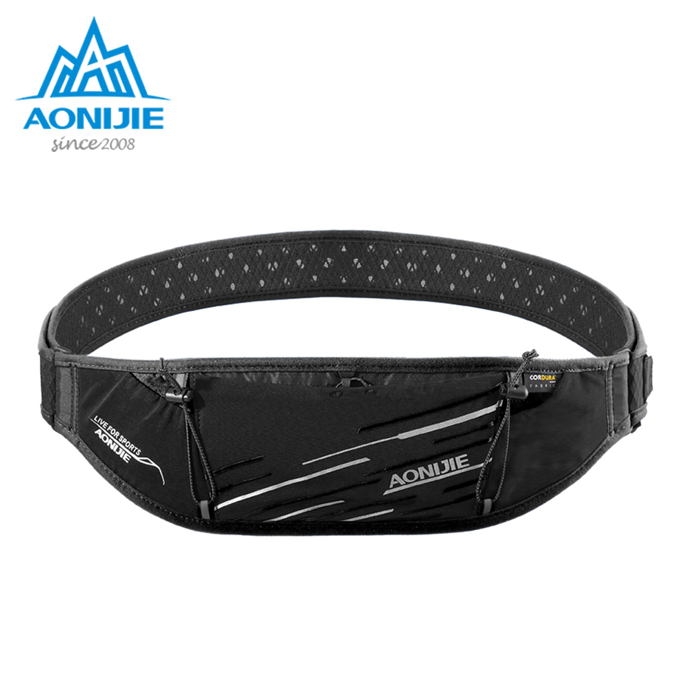 AONIJIE W952 Slim Running Waist Bag Belt Fanny Hydration Pack Water Bottle Holder For Travel Money Marathon Gym Workout Fitness
