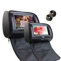 Double Headrest DVD Player 7Inch 800*480 Digital LCD Screen Artificial Leather Multimedia system Car Monitor USB IR FM Transmitt
