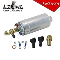 FREE SHIPPING External Fuel Pump 0580 254 044 FUEL PUMP WITH BANJO FITTING KIT HOSE ADAPTOR UNION 8MM OUTLET TAIL