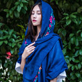 2017 Fashion Design Embroidered Cashew Floral Scarf Women Ladies Autumn and Winter Cotton Scarf over size Women Scarves Pashmina