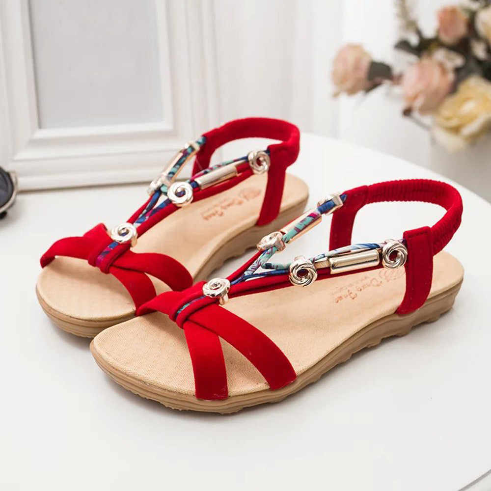 SAGACE Giày nữ Thời Trang Mới Mùa Hè Sandals Peep-Mũi Giày Nữ La Mã Giày Xăng Đan Nữ Xỏ ngón may15