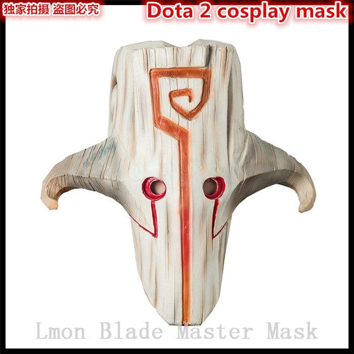 Fête d'halloween CS jeu série Dota 2 Masque Juggernaut Yurnero Jugg Masque lame Master alliage pendentif Masque en stock
