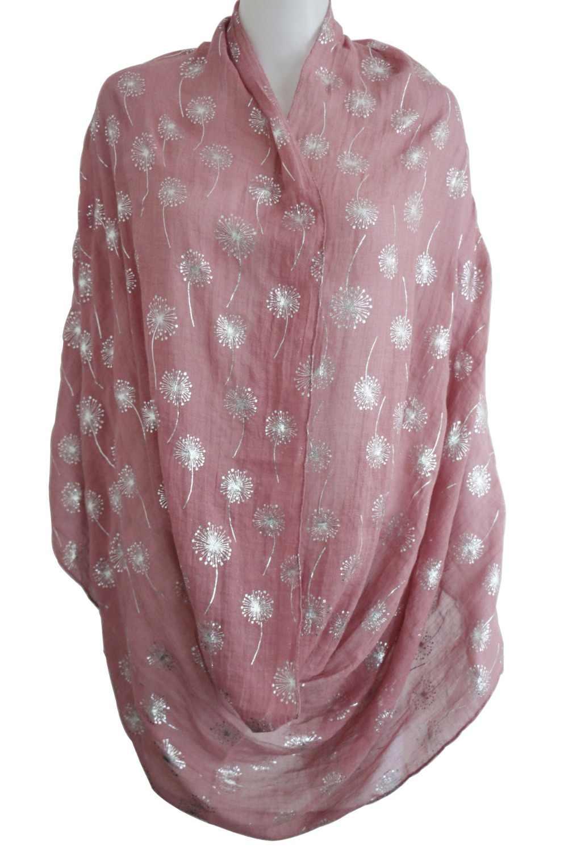 FOXMOTHER 2019 Новая мода Белый Серый блестящая бронзовая Фольга Серебряный Одуванчик зажим для шарфа Foulard Femme хиджаб шарфы дропшиппинг