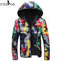 Brand Jacket Men Print Casual Parkas Fashion Cotton Stand Collar Winter Jacket Men Streetwear Down Overcoat Asian Size 3XL Z2714