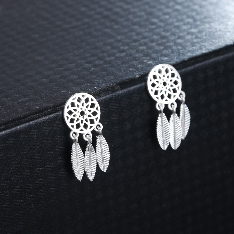 100% 925 sterling silver fashion sunflower women stud earrings ladies birthday gift wholesale jewelry drop shipping female