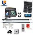 Painel solar de 20w 200kg por folha 12vdc, kit abridor de motor de portão de balanço, kit opcional de teclado de acesso com impressão digital leitor de leitura