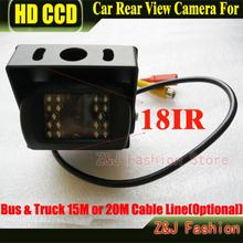 HD CCD Car Rear View Camera Reverse backup Camera rearview parking 120 Degree 18 IR Nightvision Waterproof Bus & Truck Camera