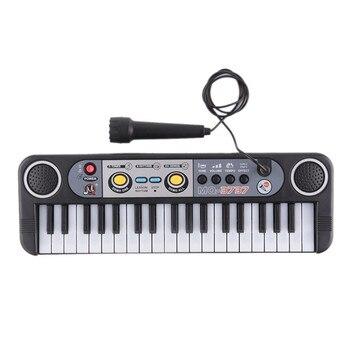 Mini teclado de Piano de juguete con micrófono para niños pequeños, Piano...