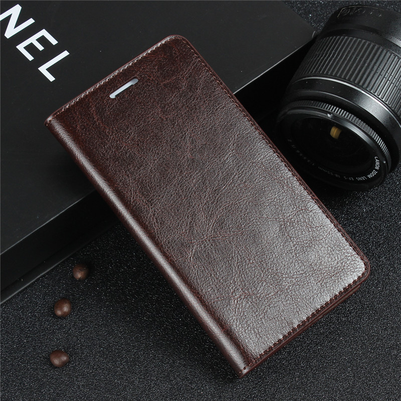 Luxury Genuine Leather Case for Sony Z5 Premium Wallet Flip Cover for Sony Xperia Z5 Plus