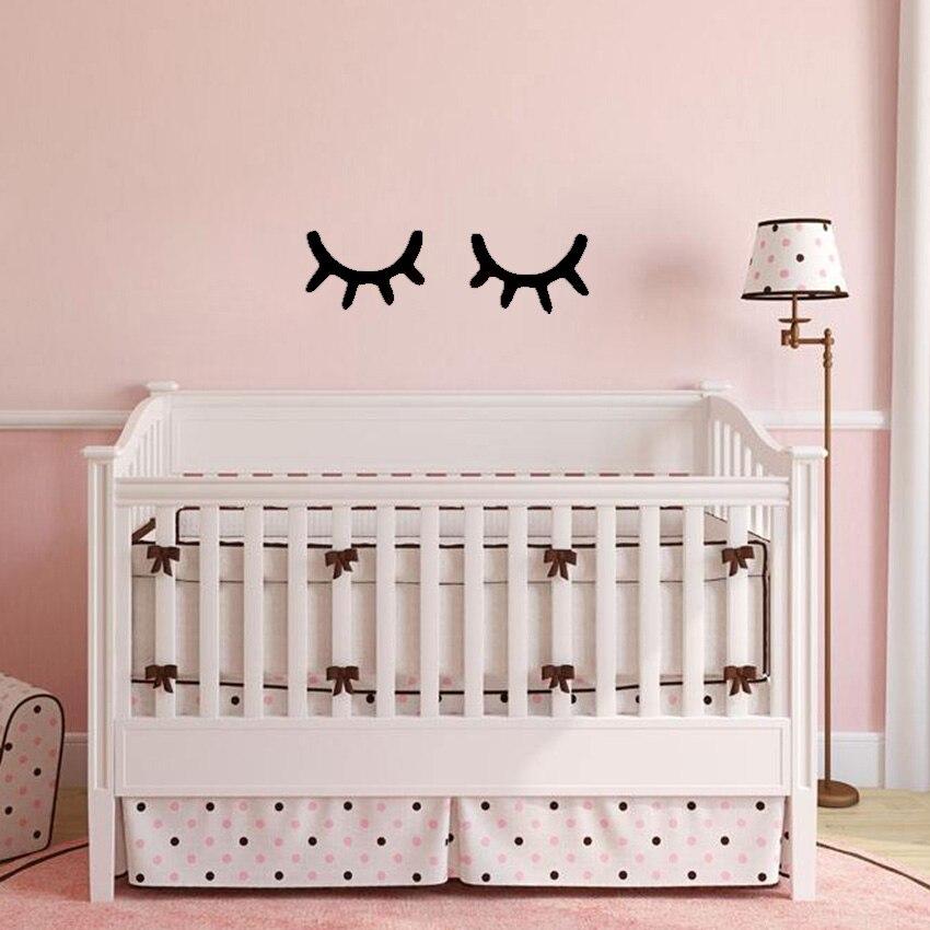 1-Pair-Nordic-Style-Cute-Wooden-3D-Eyelash-Wall-Sticker-Decor-Children-Kids-Baby-Room-Background