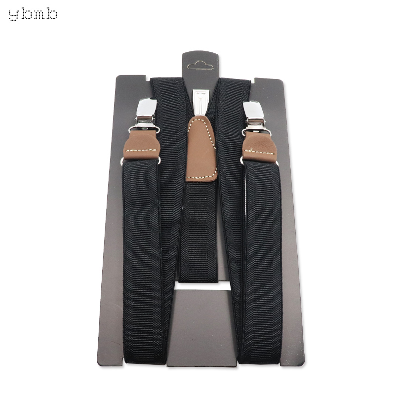 ybmb Fashion Shirt Suspenders Unisex Adult Fully Adjuetable Braces 25mm width Genuinetic leather high quality