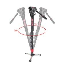 лучшая цена New PROGO JY0506B Professional aluminum Monopod For Video & Camera Tripod Head & Carry Bag JY0506 Upgraded  height 1880mm