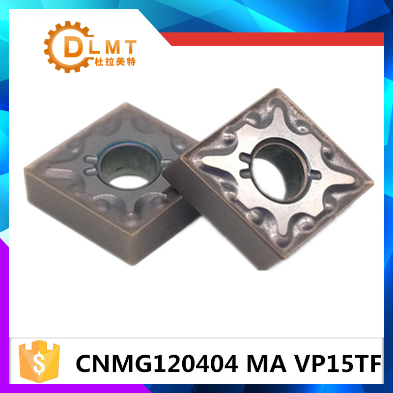 20pcs CNMG120404 MA VP15TF CNMG120408 MA VP15TF ابزارهای عطف بیرونی کاربید درج کاربید ابزار برش ابزار CNC ابزار برش تراش